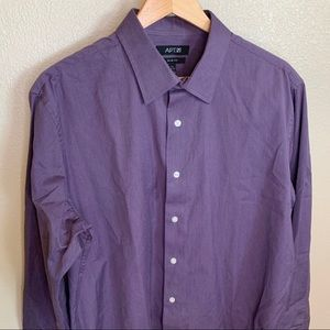 Apt. 9 Purple Button Down Dress Shirt
